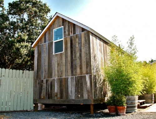 Reclaimed Barn Siding Studio in Petaluma