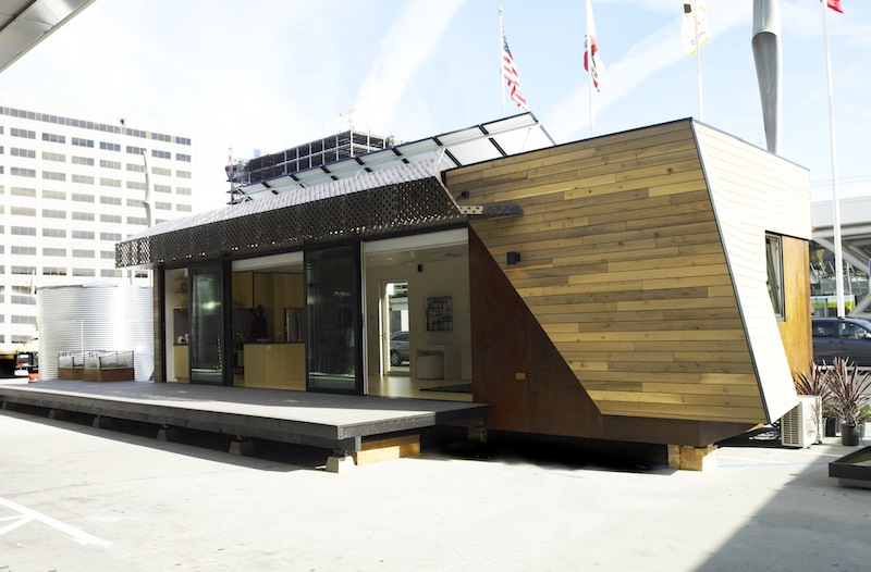 Jetson green paradigm sustainable prefab at greenbuild for Prefabricated homes seattle