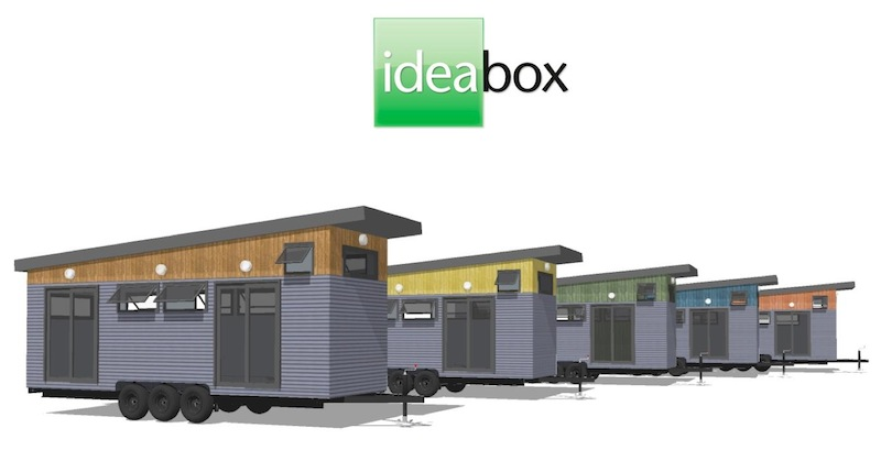 jetson green minibox is a prefab tiny house by ideabox. Black Bedroom Furniture Sets. Home Design Ideas