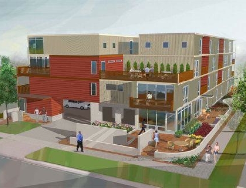 Shipping Containers used in Multi Family Home Build