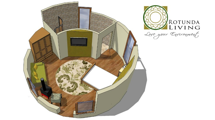 Roundhouse Garden Buildings Inspired By Yurts on Modern Cob House Interior