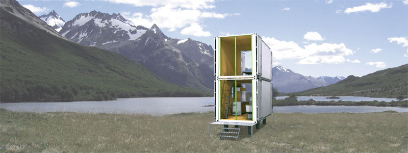 Jetson green intermodal design ships prefab homes worldwide for Shipping container home plans 2 story
