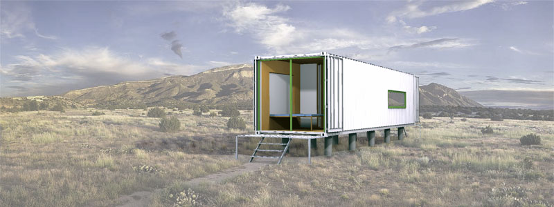 Jetson green intermodal design ships prefab homes worldwide for Hive container homes