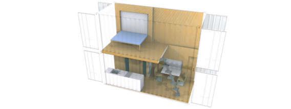 Shipping Container 2 story home