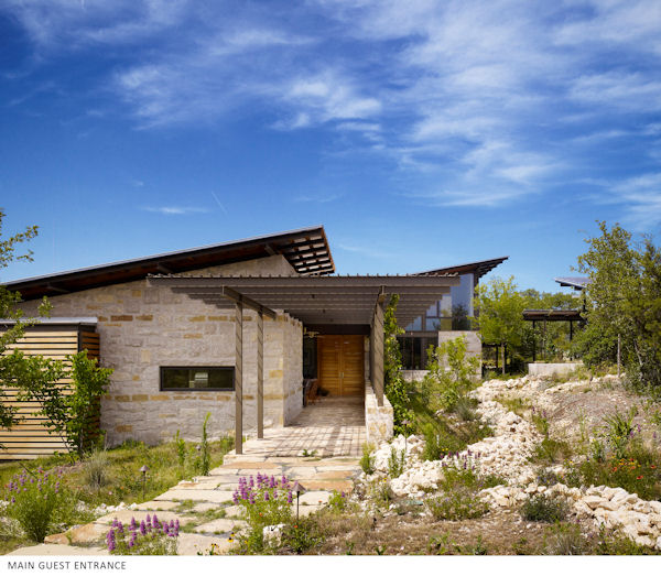 Jetson green leed platinum texas home has net zero water use for Leed cabins