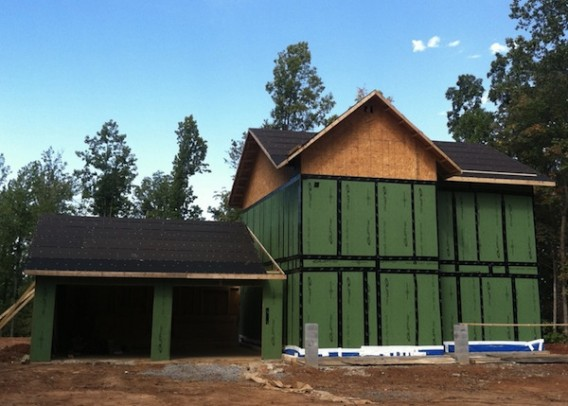 Dan Ernst - Thaxton house - Zip sheathing