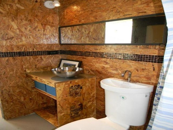 Bathroom of a container home