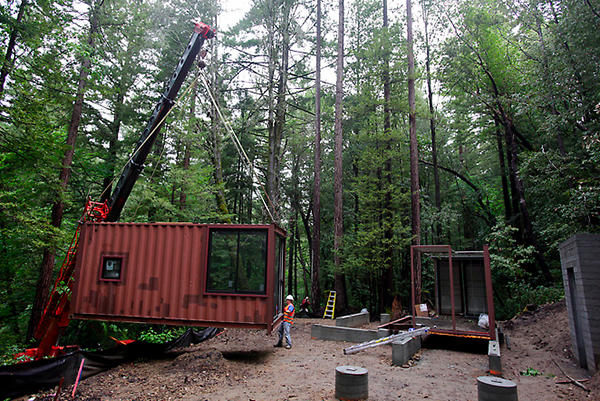 Jetson Green - Shipping Container Cabin in the Woods
