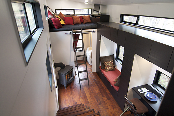 their tiny house is also completely off the grid so they are not tied down to any utility bills or systems in other words the tiny home offers them total