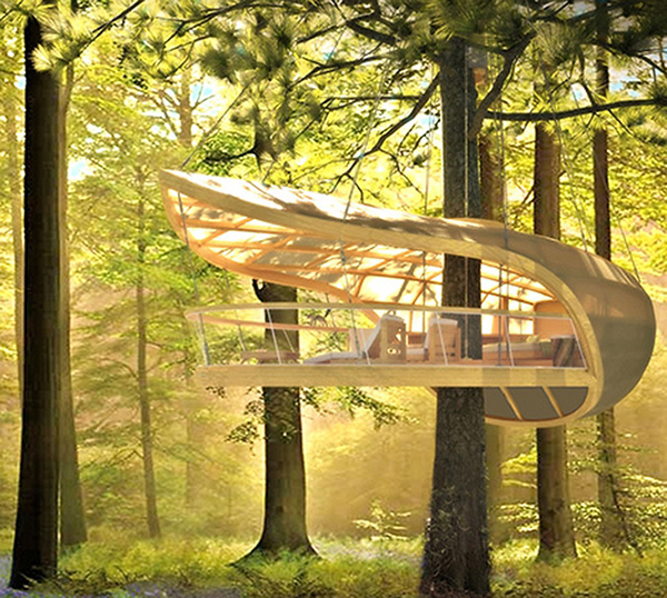 Jetson green innovative sustainable tree house design for Modern tree house designs