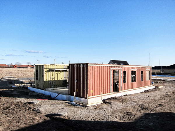 Jetson green upcycle house built from used shipping containers - Container built homes ...
