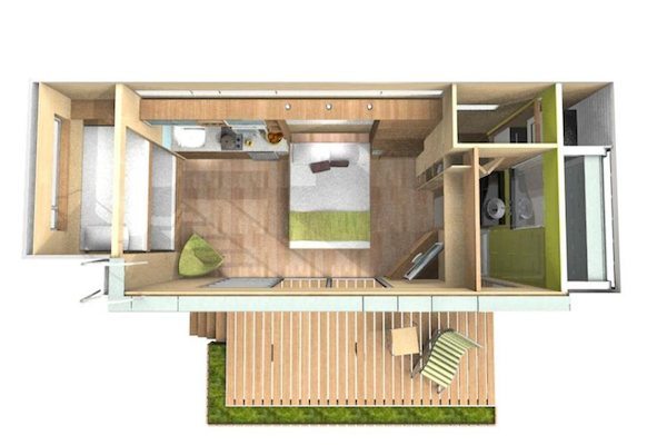 Jetson green versatile shipping container homes from cubica for Container home plans for sale
