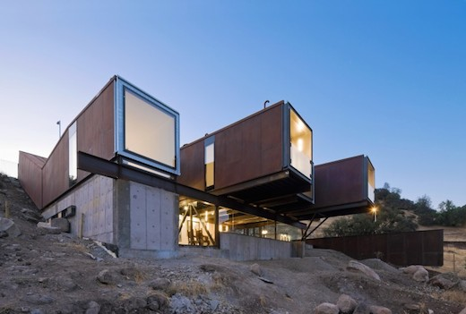 Another shipping container home design worth noting is Caterpillar House  (or Casa Oruga in Spanish), which is located in the hills just outside of  Santiago, ...