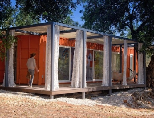A Shipping Container Guest House That's a Piece of Art