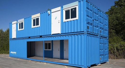 Jetson green shipping containers outfitted to become - Companies that build shipping container homes ...