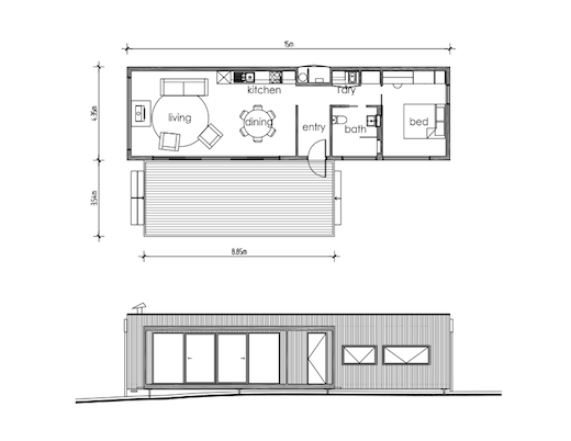 Single container home floor plans