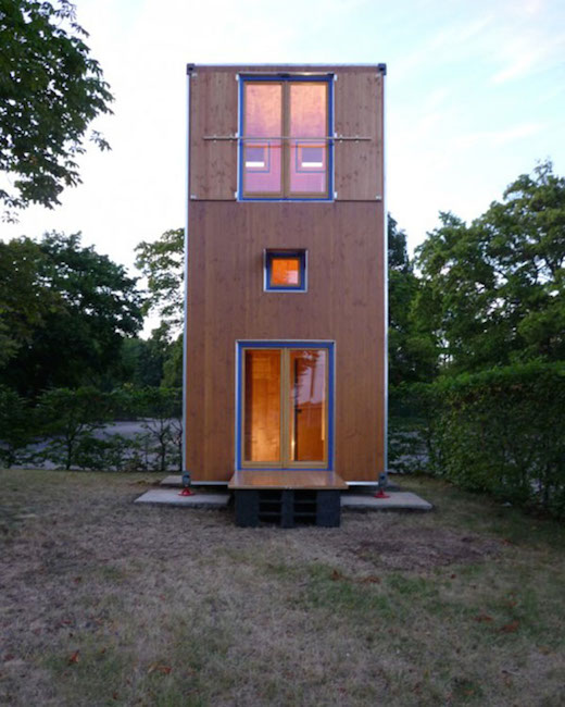 ... designed the Homebox house using a shipping container building as a  model. But the Homebox is not made from an actual steel shipping container.