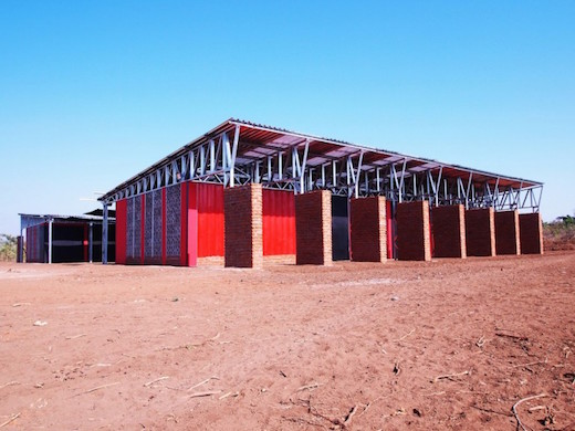 Jetson Green Shipping Container School Built in Africa