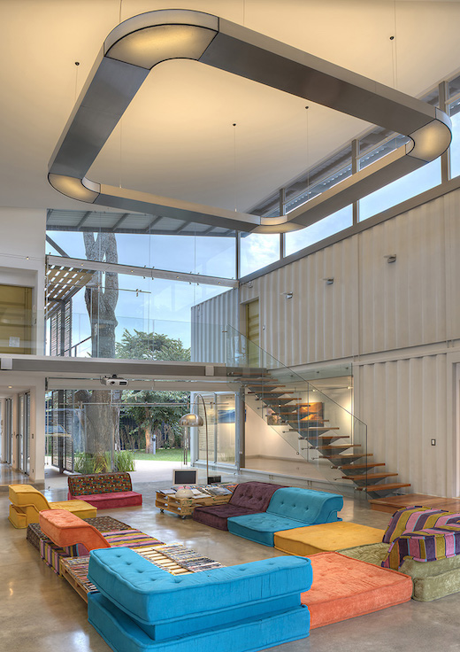 Jetson green modern shipping container home built in costa rica - Container homes costa rica ...