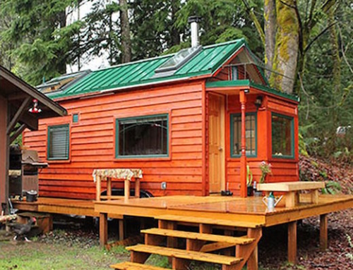 Mother and Daughter Living in a Tiny Home