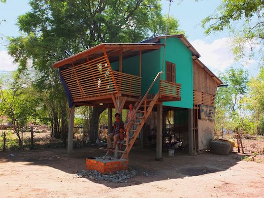 Jetson green affordable wooden house build for cambodia for Affordable building