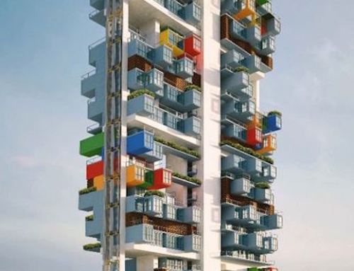 Shipping Container Used to Build a Skyscraper