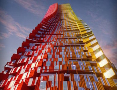 Towers Built of Shipping Containers