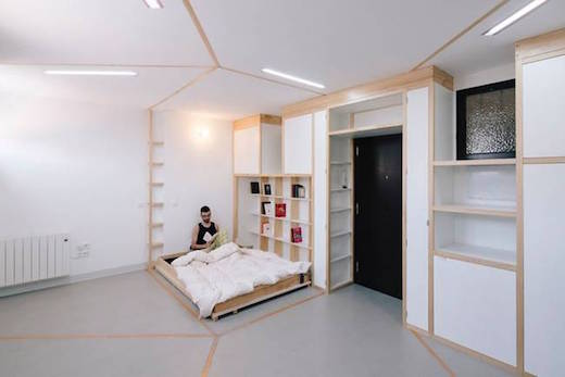 Jetson Green Simple Movable Walls Transform Tiny Apartment