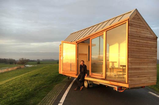 daniel venneman a designer from holland has just completed a unique mobile tiny home its called porta palace and he built it for his business partner - Tiny House Mobile