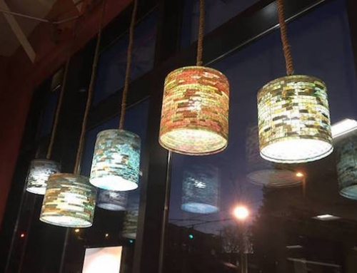 Unique Lamps Made From Recycled Coffee Filters