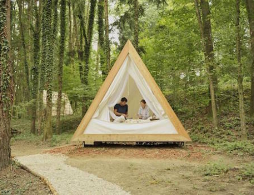 A-Frame Cottages for Eco-Friendly Glamping