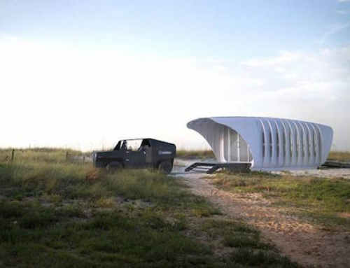 3D Printed House and Car Share Energy