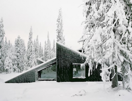 Off-Grid Cabin That Doubles as Ski Slope