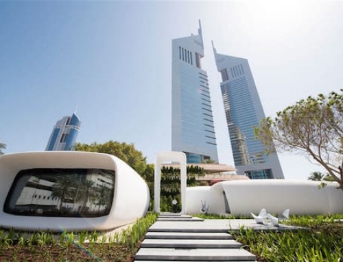 A 3D Printed Office Completed in Dubai