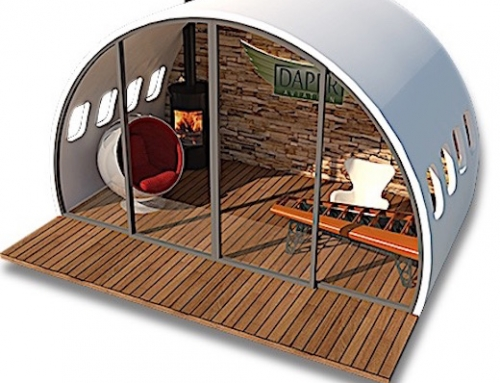 Planes Upcycled Into Garden Offices