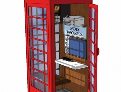 Iconic British Phone Booths Turned into Office Pods