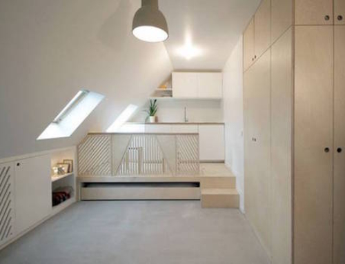 Small Apartment Made Spacious by a Clever Transformer Unit