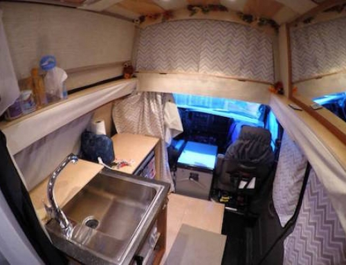 Woman Converts Van Into an Awesome Solar Powered Home