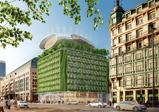 Belgian Architect Vincent Callebaut Has Recently Come Up With An Interesting And Unique Solution To Turning Old 1970 S Apartment Building Into A Very