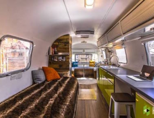 Vintage Trailer Becomes Cool Family Home