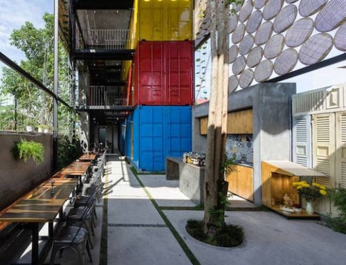 New Shipping Container Hostel Built in Vietnam