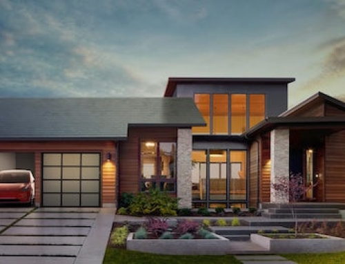 Solar Roof Tiles as Imagined by Tesla
