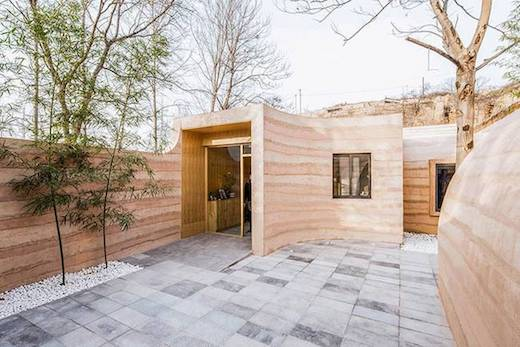 Modern Rammed Earth Home at LEED Points - Green Building Blog on compressed earth block homes, modern earth sheltered homes, earth cement floors in homes, modern ranch style house designs, earth natural built homes, modern home design,