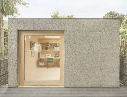 Garden Shed Office Clad in Cork