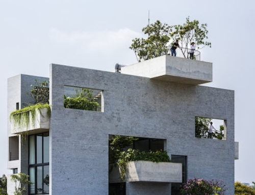 Naturally Cooled Concrete House