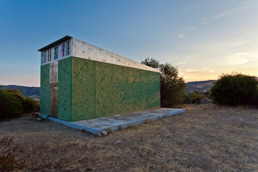 Jetson green sun speckled off grid cabin for Off grid cabin foundation