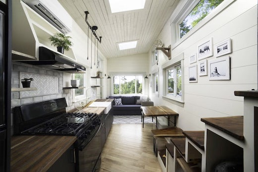Light-filled Tiny House Made of Reclaimed Materials