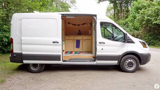 Woman Converts Van Into a Cozy Full Time Home