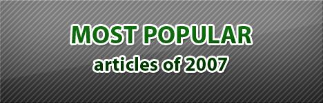 Most Popular Articles of 2007