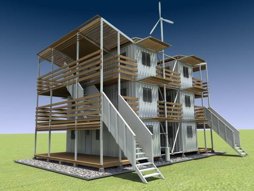 Container-housing-apartments-solar
